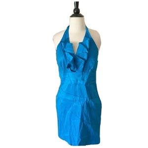 Daisy Blue Halter Dress Medium